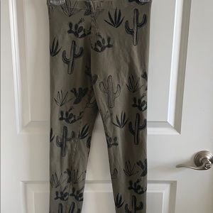 Succulent Cactus Cotton Leggings